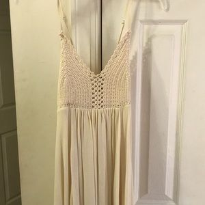 Cream maxi dress lace